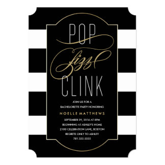 Pop Fizz Clink Bachelorette Party Invitation