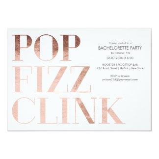 Pop Fizz Clink Bachelorette Party Invite Faux Foil