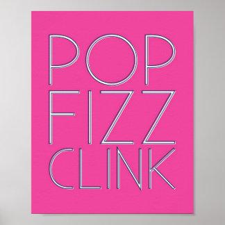 Pop Fizz Clink Bar Cart Art Posters