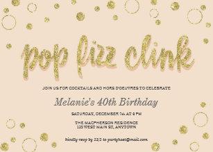 Bubbles birthday invitations zazzle pop fizz clink champagne bubbles party invites filmwisefo