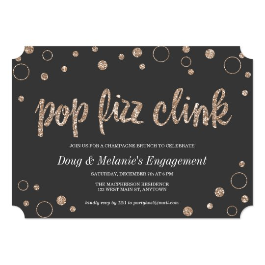 Pop Fizz Clink Invitations Announcements – Champagne Party Invitations