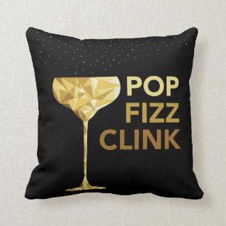 Pop Fizz Clink Champagne Pillow