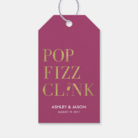 Pop Fizz Clink Favor Tags