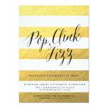 "POP FIZZ CLINK Holiday Party Invitation 5"" X 7"" Invitation Card"