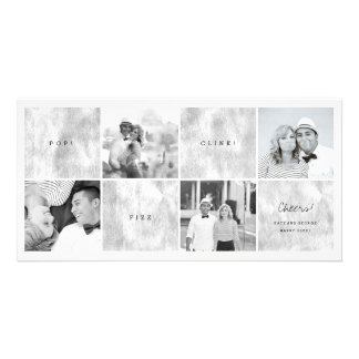 Pop Fizz Clink New Year Photo Collage Holiday Card