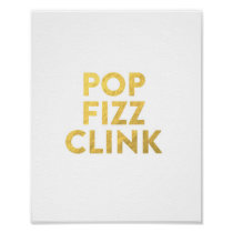 POP FIZZ CLINK New Years Eve Party Bar Cart Sign