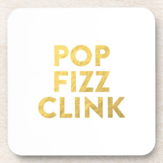 POP FIZZ CLINK New Years Eve Party Coasters