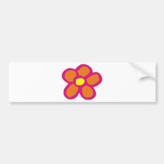 Pop Flower Car Bumper Sticker