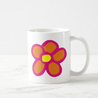 Pop Flower Classic White Coffee Mug