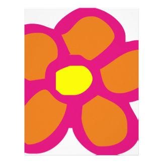 Pop Flower Customized Letterhead