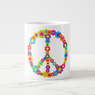 Pop Flower Power Peace Extra Large Mugs