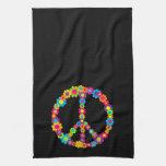 Pop Flower Power Peace Towel