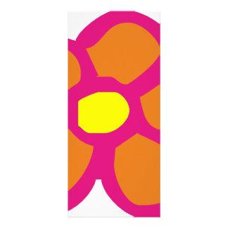 Pop Flower Rack Card Template