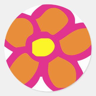 Pop Flower Round Stickers