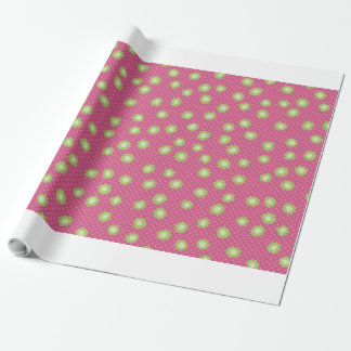 Pop Flowers Florettes pink Wrapping Paper