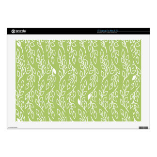 "Pop Flowers Leaves green 17"" Laptop Skin"