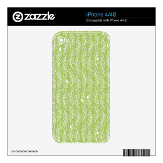 Pop Flowers Leaves green 	iPhone 4/4S Skin iPhone 4S Decals