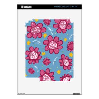 Pop Flowers pink iPad 3 Skin