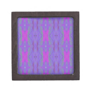 Pop Fluorescent Pink Lavender Chic Pattern Jewelry Box
