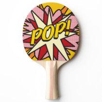 POP Fun Retro Comic Book Superhero Modern Ping Pong Paddle