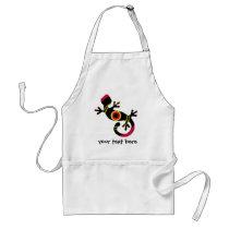 pop gecko blk adult apron