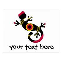 pop gecko blk postcard