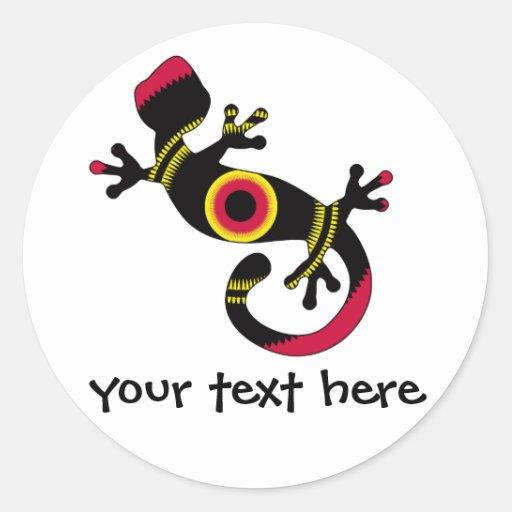 pop gecko blk stickers