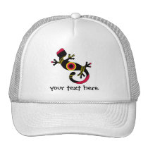 pop gecko blk trucker hat
