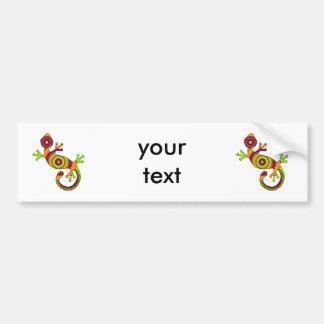 pop gecko bumper sticker