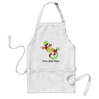pop gecko orange apron