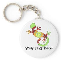 pop gecko orange keychain