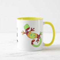 pop gecko orange mug