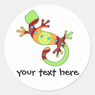 pop gecko orange sticker