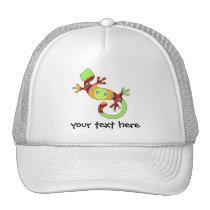 pop gecko orange trucker hat