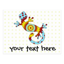 pop gecko sunburst postcard