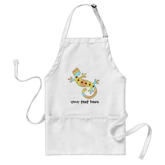 pop gecko swirly adult apron