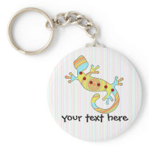 pop gecko swirly keychain