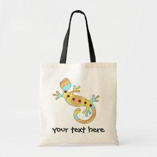 pop gecko swirly tote bag