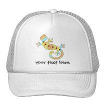 pop gecko swirly trucker hat