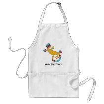 pop gecko tribal adult apron