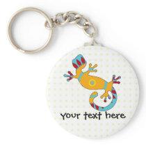 pop gecko tribal keychain