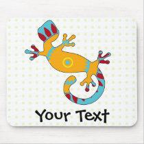 pop gecko tribal mouse pad