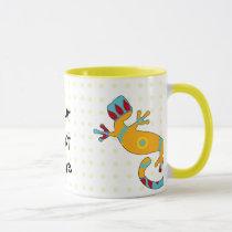 pop gecko tribal mug