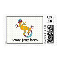 pop gecko tribal postage