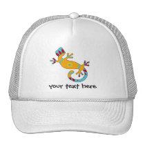 pop gecko tribal trucker hat