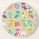 Pop Geishas & Lanterns Beverage Coaster