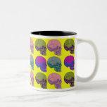 Pop go the skulls cup coffee mug