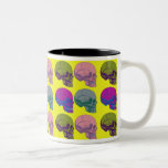 Pop go the skulls cup Two-Tone mug