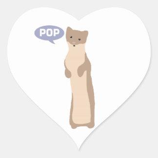 Pop Goes the Weasel Heart Sticker