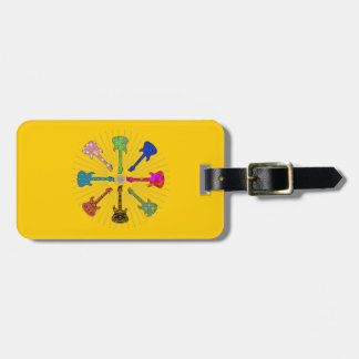 POP GUITARS CIRCLE BAG TAG